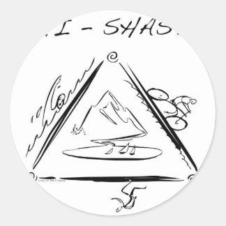 Tri-Shasta-Triathalon Ronde Sticker