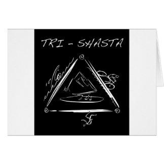 Tri - Shasta Triathalon Wenskaart