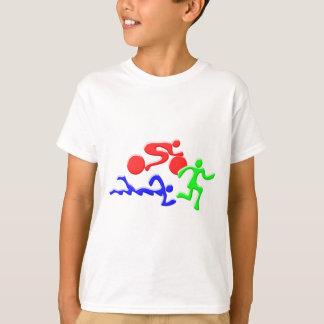 TRI Triathlon zwemt het Ontwerp van de Cijfers van T Shirt