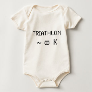 Triathlon met 8 bits baby shirt