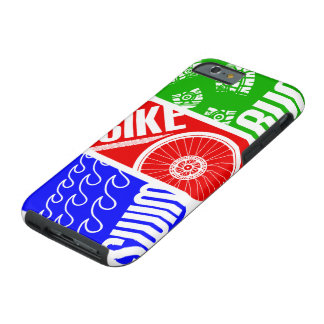 Triathlon TRI zwemt de Looppas van de Fiets Tough iPhone 6 Hoesje