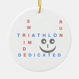 Triathlon word ik gewijd rond keramisch ornament