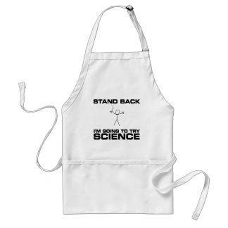 Tribune Achter ga ik Wetenschap proberen Standaard Schort