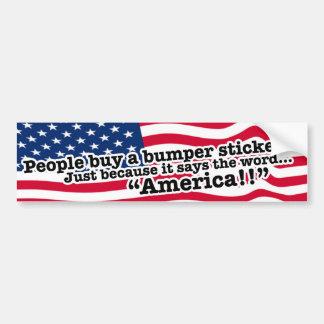 Tribune omhoog voor Amerika!! Ben een Amerikaan!! Bumpersticker