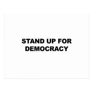 Tribune omhoog voor Democratie Briefkaart