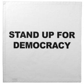 Tribune omhoog voor Democratie Katoenen Servet