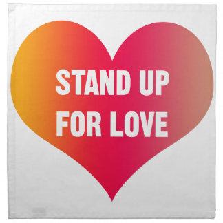 Tribune omhoog voor Liefde (rood-Oranje Hart) Servet