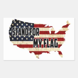 Tribune voor Mijn Amerikaanse Sticker van de Vlag