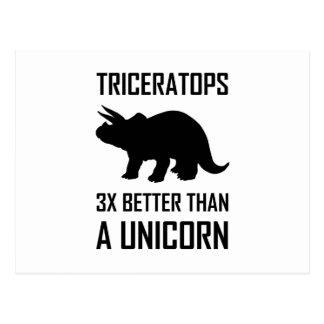 Triceratops dan beter Eenhoorn Briefkaart