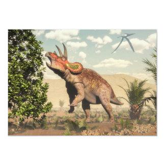 Triceratops die bij 3D magnoliaboom eten - geef Kaart
