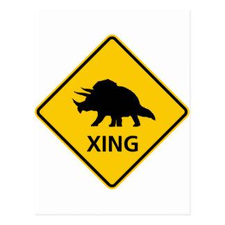 Triceratops die de Dinosaurus van het Teken van de Briefkaart
