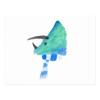 Triceratops in een Sjaal Briefkaart