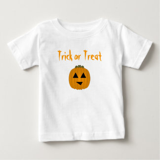 Trick or treat baby t shirts