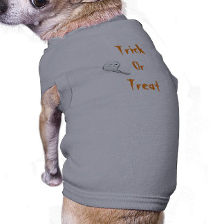 Trick or treat mouwloos hondenshirt