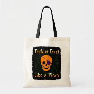 Trick or treat zoals een Piraat Draagtas