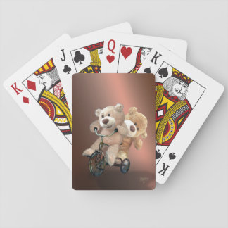 """Tricycling Teddies "" Pokerkaarten"