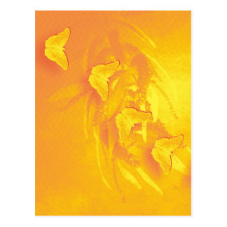 Trillend geel vlinders verticaal briefkaart