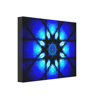 Trillende Blauwe Mandala Canvas Print