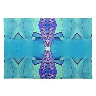Trillende Moderne Schaduwen van Blauwe Paars Placemat
