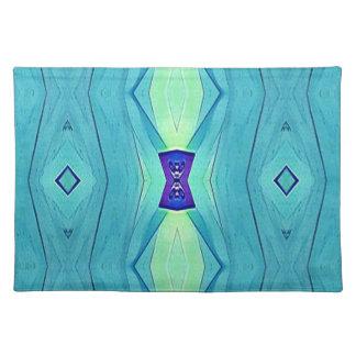 Trillende Moderne Schaduwen van Blauwgroen Blauwe Placemat
