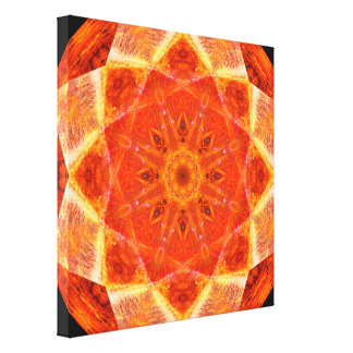 Trillende Ster Mandala Canvas Print