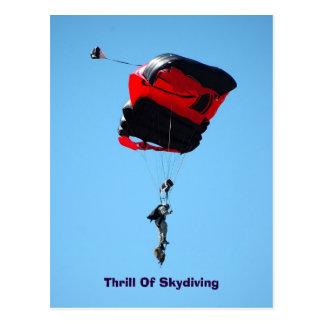 trilling van briefkaart Skydiving