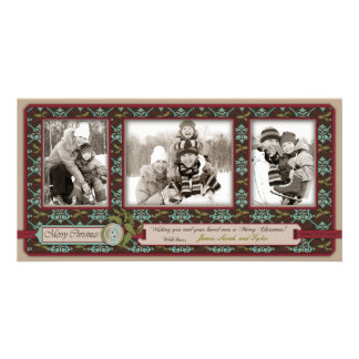 Trio van de Kaart van de Foto van Kerstmis het Kla