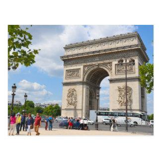 Triomfantelijke Boog op de boulevard van Champs Briefkaart