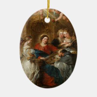 Triptiek St. Idelfonso - Peter Paul Rubens Keramisch Ovaal Ornament