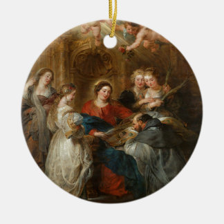 Triptiek St. Idelfonso - Peter Paul Rubens Rond Keramisch Ornament