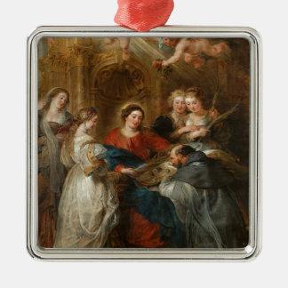 Triptiek St. Idelfonso - Peter Paul Rubens Zilverkleurig Vierkant Ornament