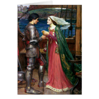 Tristan en Isolde door John William Waterhouse Briefkaarten 0