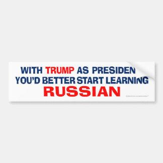 Troef als President - leer Rus Bumpersticker