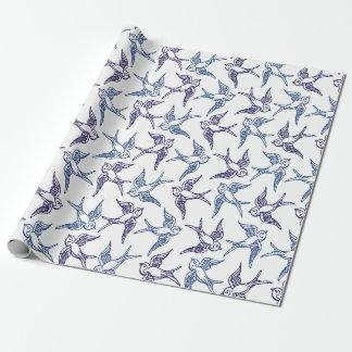 Troep van Geschetste Vogels Inpakpapier