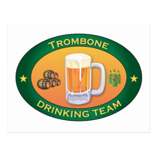 Trombone die Team drink Briefkaart