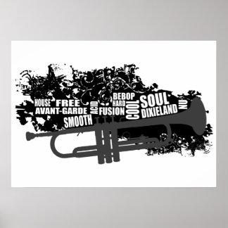 Trompet en stijlen poster