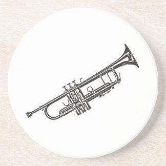 "Trompet ""Tekening "" Zandsteen Onderzetter"