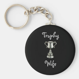 trophy1, TrophyWife Basic Ronde Button Sleutelhanger