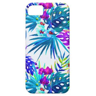 Tropisch bloempatroon luxe barely there iPhone 5 hoesje