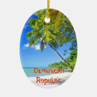 Tropisch eiland in Dominicaanse Republiek Keramisch Ovaal Ornament
