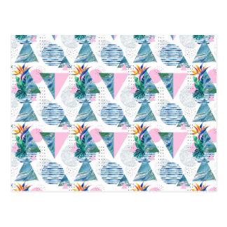 Tropisch Geometrisch Patroon Briefkaart