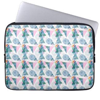 Tropisch Geometrisch Patroon Laptop Sleeve