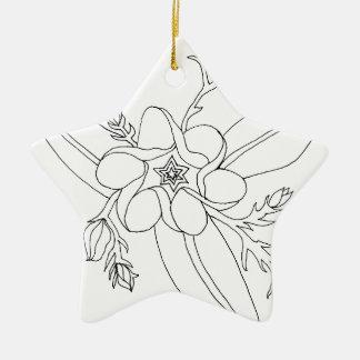 Tropisch Keramisch Ster Ornament