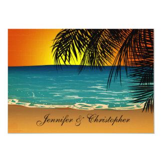 Tropisch Strand bij het Huwelijk van de Kaart