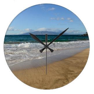 Tropisch Strand in Maui Hawaï Grote Klok