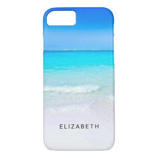Tropisch Strand met een Turkooise Douane van het iPhone 8/7 Hoesje