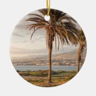 Tropisch strand Tenerife Rond Keramisch Ornament