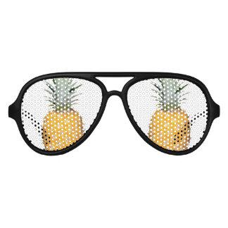 Tropische ananas aviator zonnebril