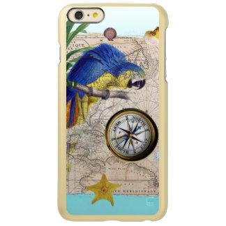 Tropische Blauwe Collage Incipio Feather® Shine iPhone 6 Plus Hoesje