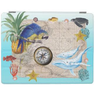 Tropische Blauwe Collage iPad Cover